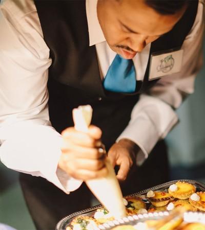 Frankie Brooks Preparing Appetizers