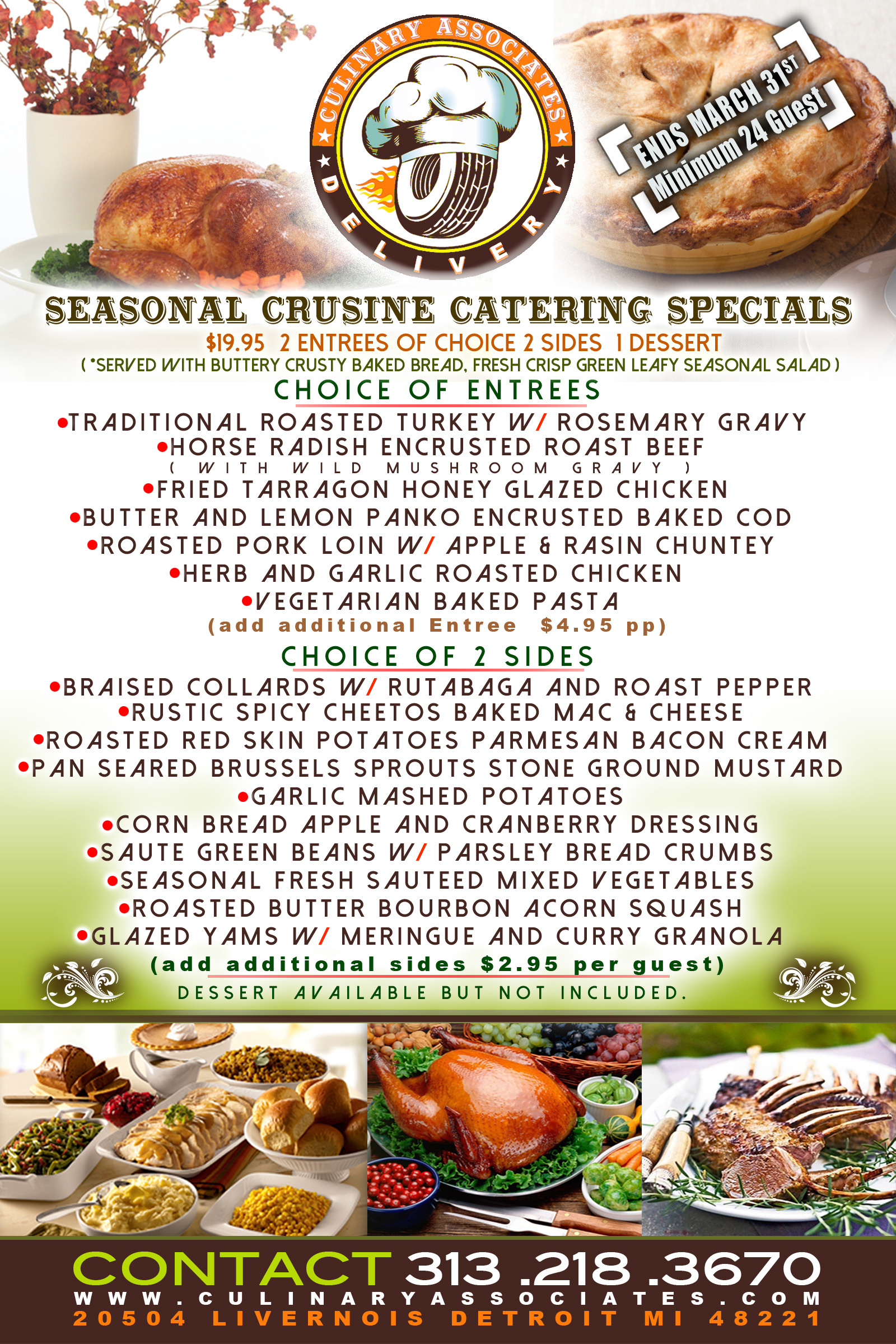 Seasonal Catering Specials Menu